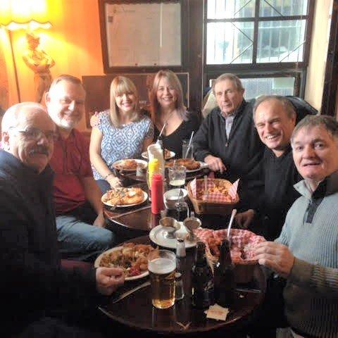 Ed Cumby, Terry Quinn, Barbara King, Cathy Dawe, Martin Clooney, Harry Nichols & Matt Aylward.