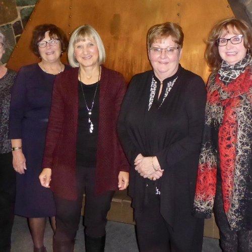 Barb Archibald, Bettie Johnston, Joan Kirouac, Gail Blanchette, Wendy Lamont