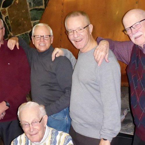 Gord MacPherson, Norm Oakley, Al Brockmeyer, Mike Rudkin, Bob McGregor (seated)